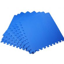 60 x 60 CM BLUE INTERLOCKING EVA SOFT FOAM EXERCISE FLOOR MATS GYM GARAGE OFFICE KIDS PLAY [ BLUE ]